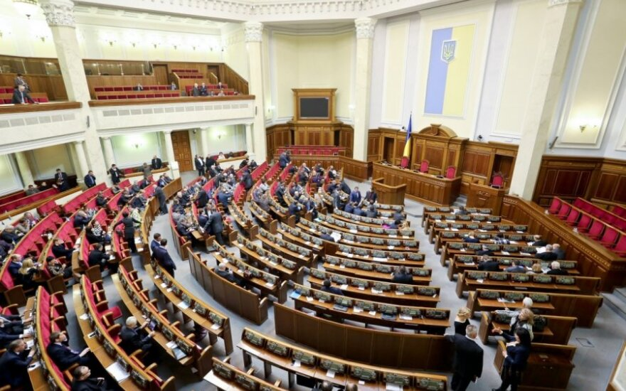 Ukrainos parlamentas pritarė siūlymui atšaukti draugystės su Rusija susitarimą