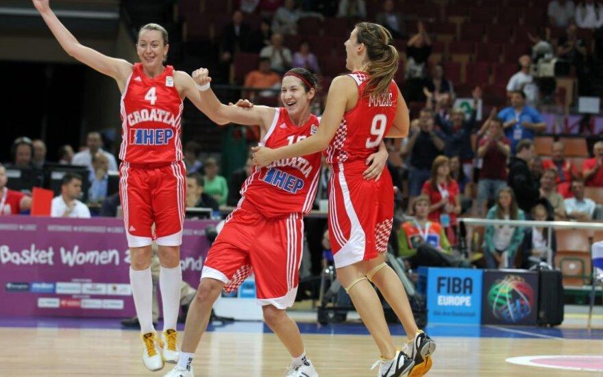 Kroatės užėmė 5-ą vietą bei kausis dėl vietos olimpinėse žaidynėse