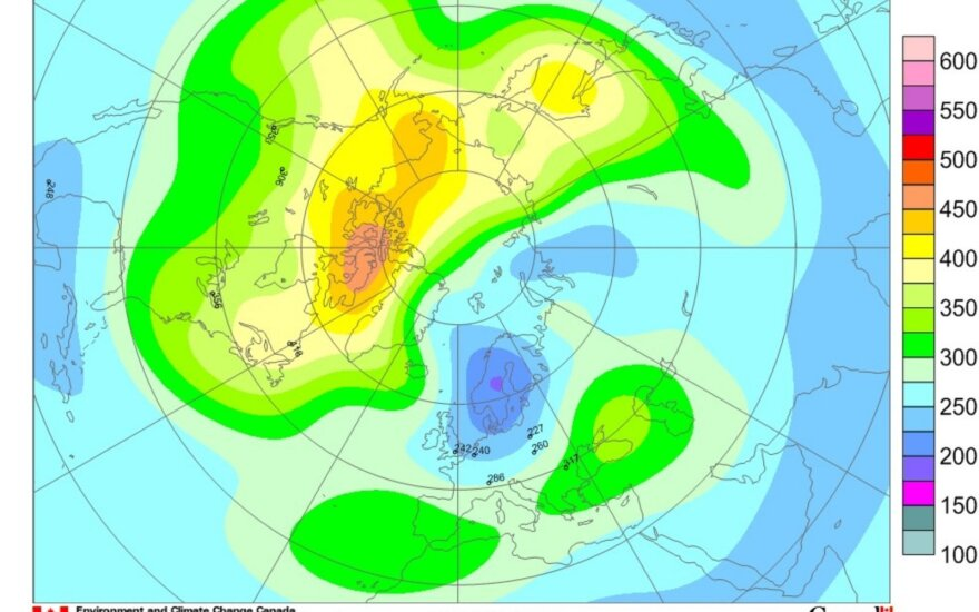 Hidrometereologai: virš Lietuvos teritorijos sumažėjo ozono kiekis