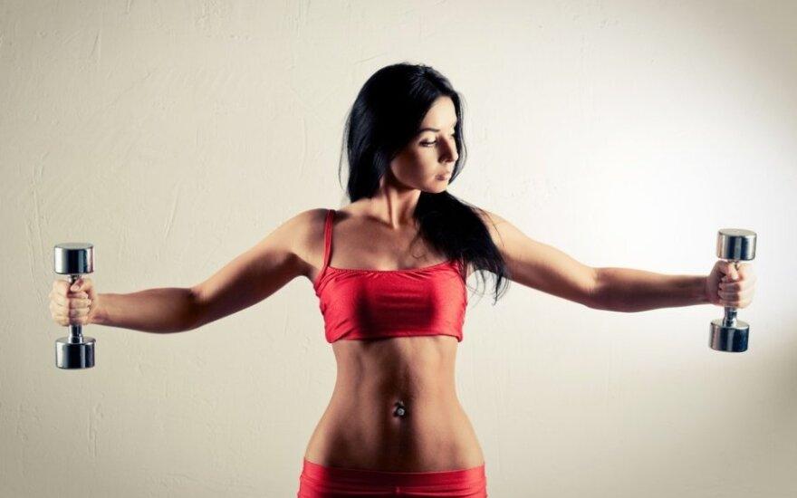 Treneris pataria: kaip užsiauginti raumenų