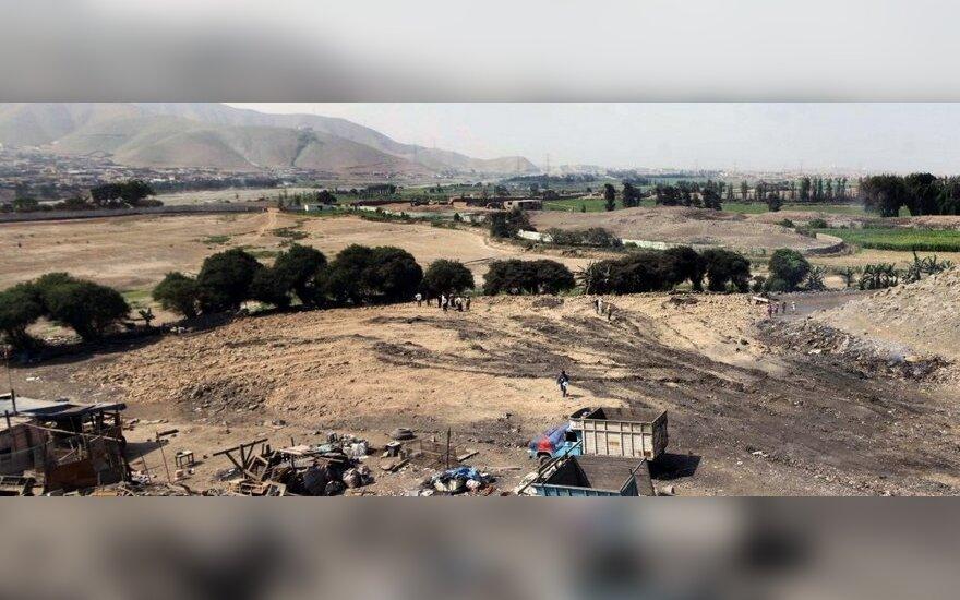 Statybininkai nugriovė 4000 m. senumo piramidę Peru