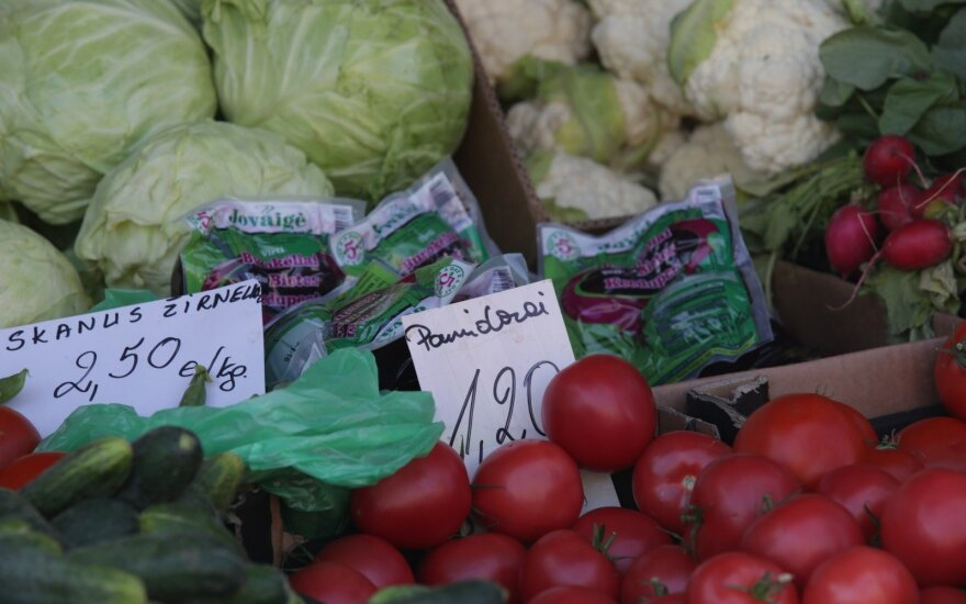 Vegetables on sale at Kaunas market