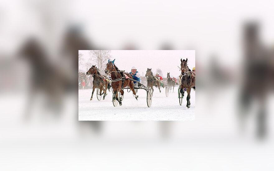 Tradicinės žirgų lenktynės Dusetose