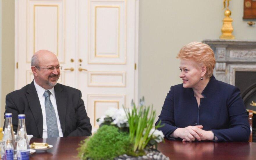 Lamberto Zannier and Lithuanian President Dalia Grybauskaitė