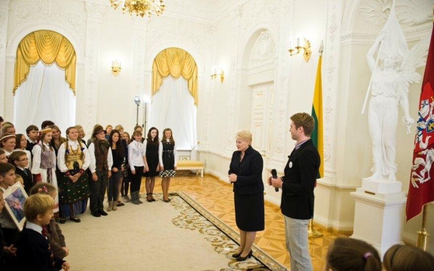 Vunderkindai.lt globėja - Dalia Grybauskaitė