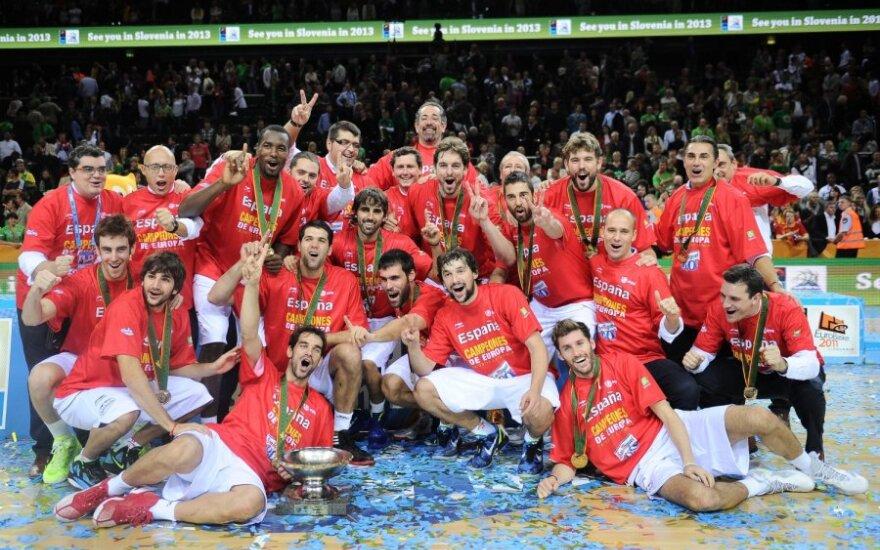 Ispanijos rinktinė -Europos čempionė