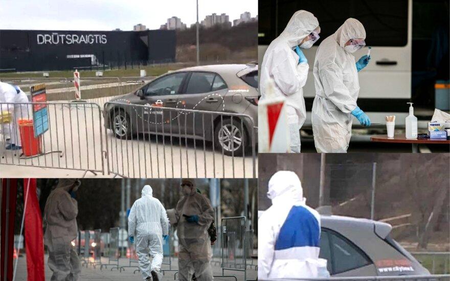 """Į Kauno mobilų koronaviruso patikros punktą pasitikrinti atkeliavo nuomotu """"CityBee"""" automobiliu"""
