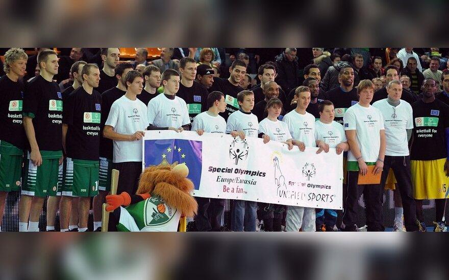 """Žalgiriečiai dalyvauja """"Special Olympics"""" akcijoje"""