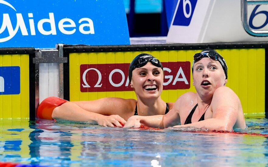 Katie Meili (kairėje) ir Lilly King