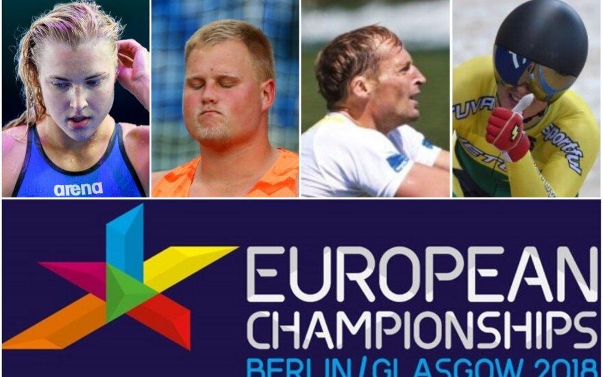 Rūta Meilutytė, Andrius Gudžius, Mindaugas Griškonis ir Simona Krupeckaitė bus tarp inauguracinių Europos čempionatų dalyvių