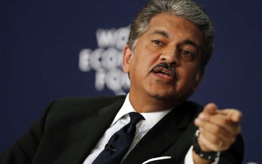 Anand Mahindra, chairman and managing director of Mahindra & Mahindra, speaks during the India Economic Summit 2014 at the World Economic Forum in New Delhi