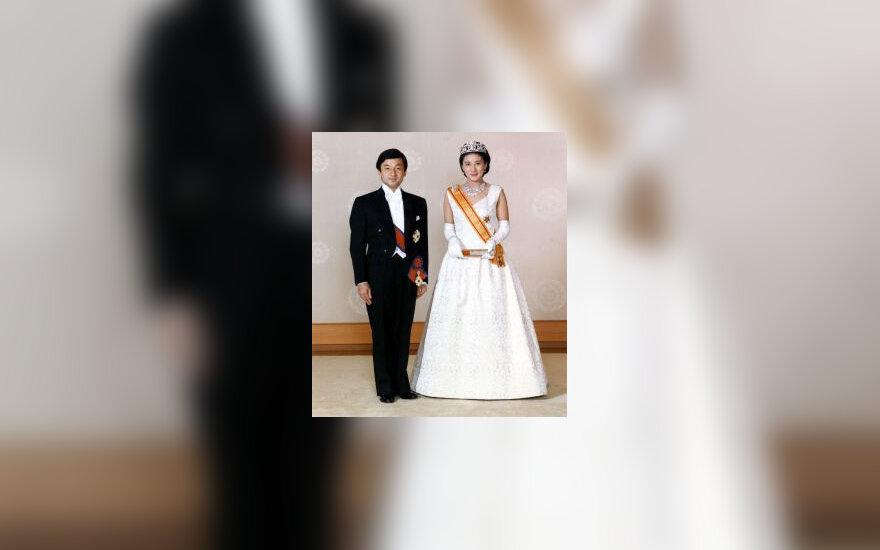 Princas Naruhito su žmona