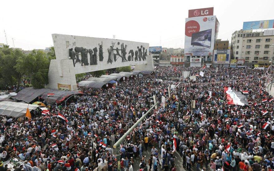 Irake vyksta masiniai protestai
