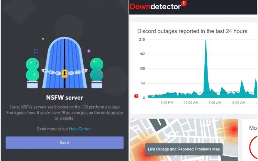 Pranešama apie Discord sutrikimus
