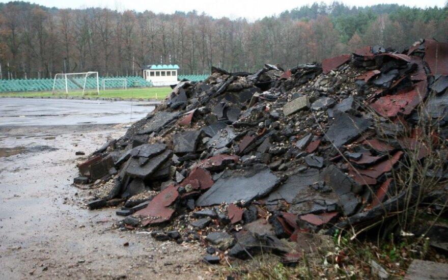 """""""Vingio"""" stadiono rekonstrukcijos darbai"""
