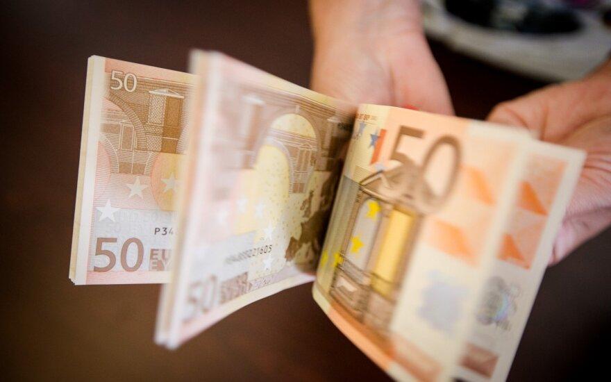 Vienuolikos mėnesių centrinės valdžios sektoriaus perteklius - 128,2 mln. eurų