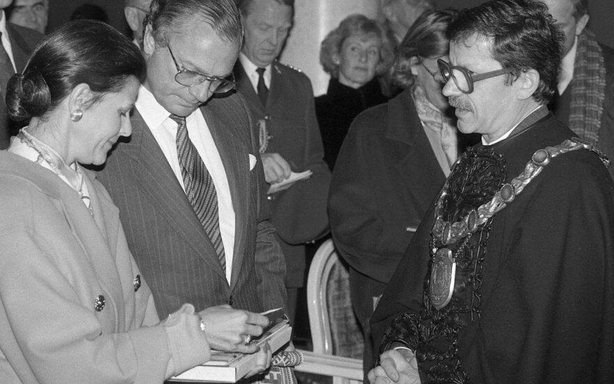 Swedish royal couple in 1992. Photo Vidas Naujikas