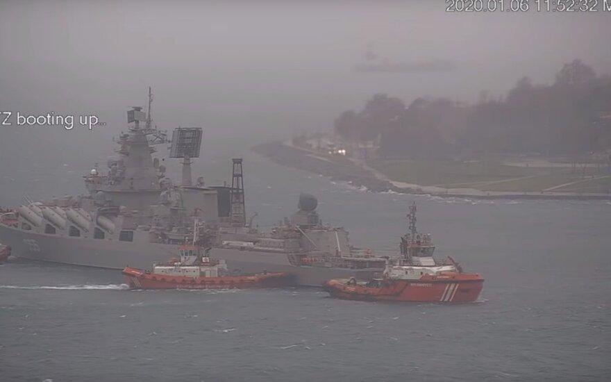 Prieš karines pratybas – gėdingos Rusijos laivo nesėkmės