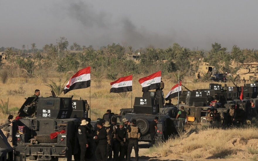"""Irako pajėgos sudavė skaudų smūgį """"Islamo valstybei"""""""