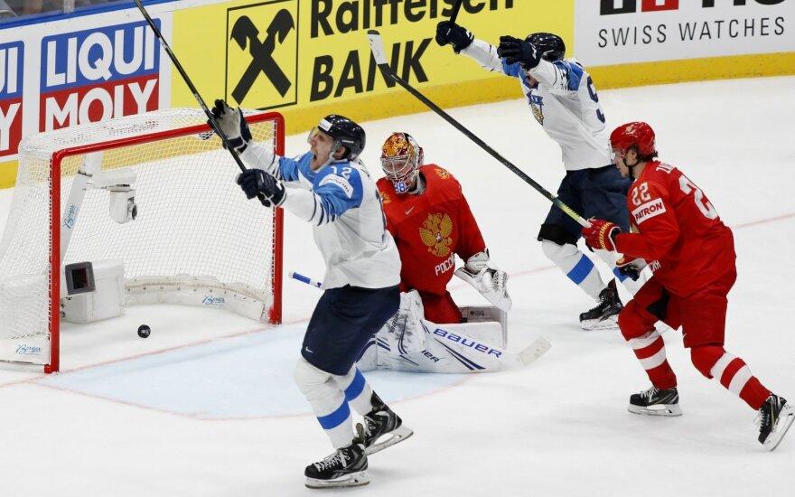 Rusijos ir Suomijos rinktinių akistata pusfinalyje