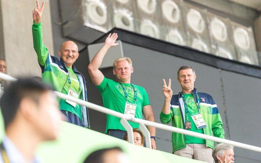 Romualdas Bakutis, Lina Tubelis ir Kazys Steponavičius
