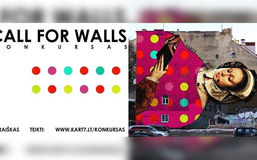 Kviečia bendruomenes dalyvauti konkurse: gatvės freskos kūrinys jūsų sienai