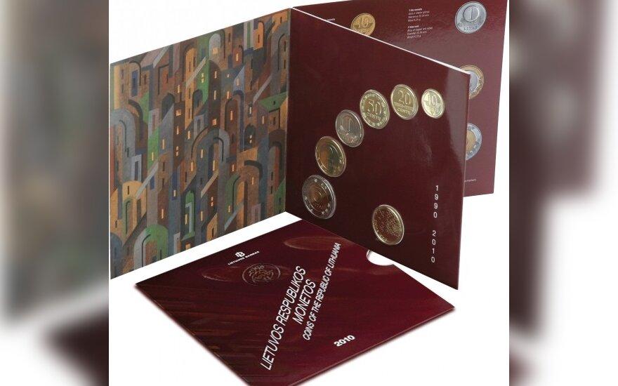 Nepriklausomybės 20-mečiui - monetų rinkinys