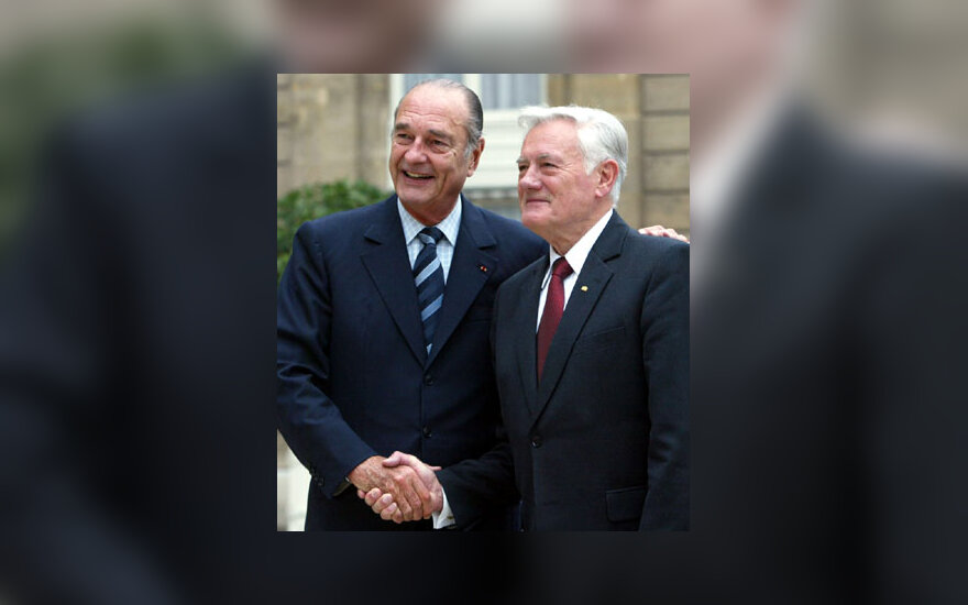 J.Chiracas ir V.Adamkus