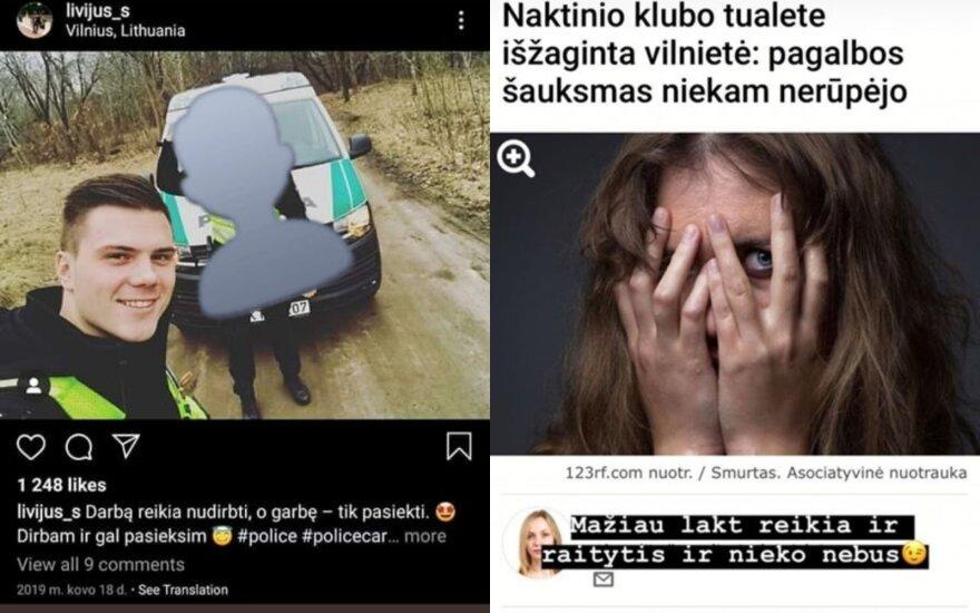 Žinia apie pareigūno pasiūlymą išžagintai merginai pasiekė ir Vilniaus policijos viršininką