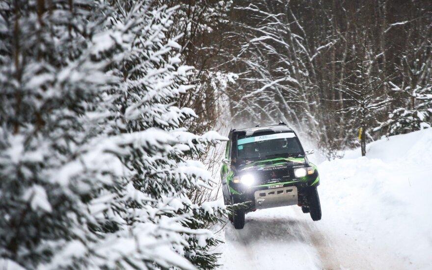 """Vaidoto Paškevičiaus ir Gyčio Vercinsko ekipažas """"Winter Rally"""""""