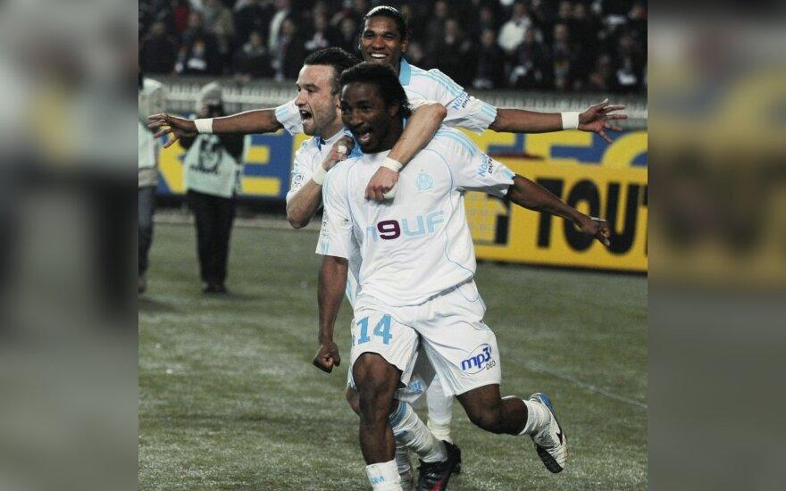 """Vėl suklupęs """"Lyon"""" klubas išsaugojo lyderio poziciją Prancūzijoje"""