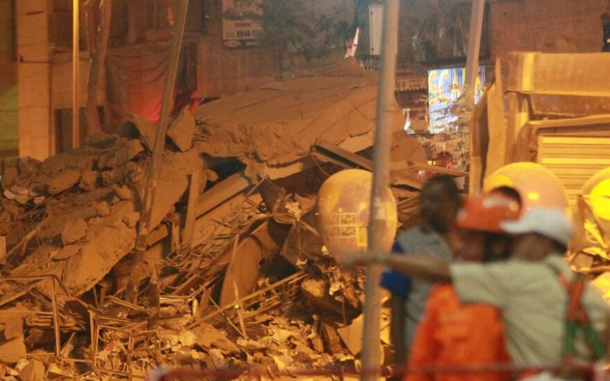 Rio de Žaneire sugriuvę pastatai