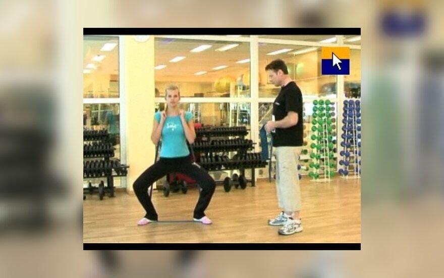 Mankštinkimės: pratimai apatinės kūno dalies raumenų stangrinimui