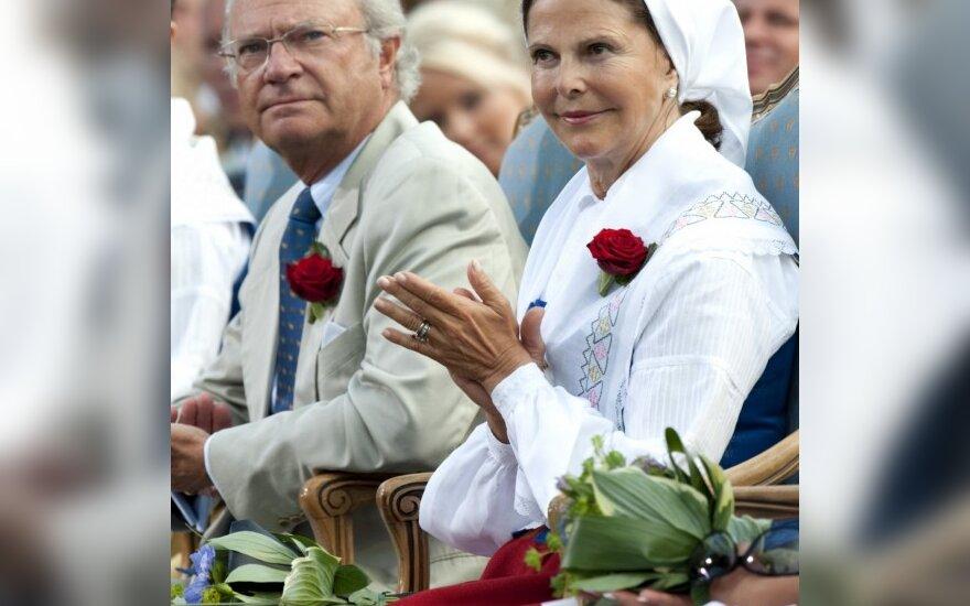 Švedijos karalius Carlas Gustafas ir karalienė Silvija