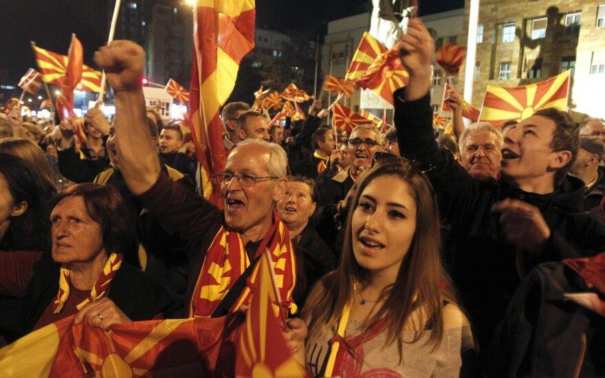 Makedonijos gyventojai priešinasi savo šalies pavadinimo keitimui