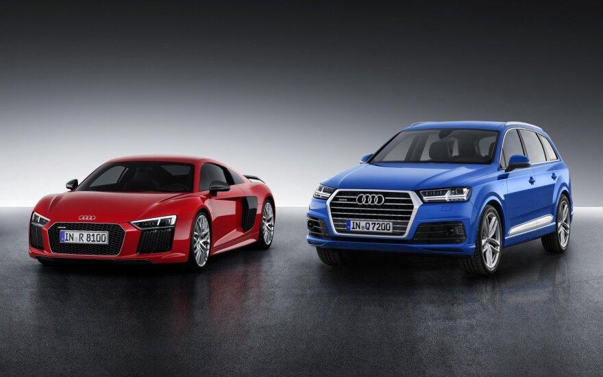 """Audi R8"" ir ""Audi Q7"""