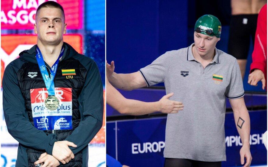 Danas Rapšys (kairėje), Simonas Bilis