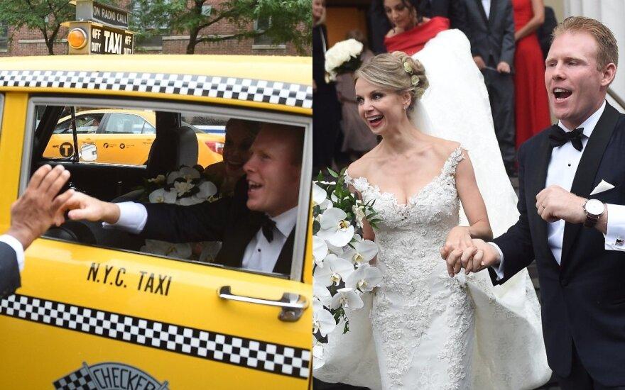 Pasirodė nematyti kadrai iš lietuvės ir buvusio Niujorko mero sūnaus vestuvių