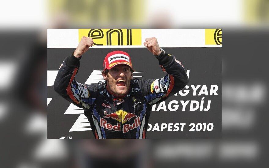 """Markas Webberis (""""Red Bull"""")"""