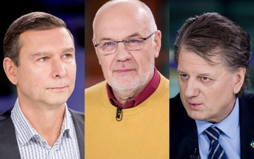 Andrius Kaluginas, Romas Lazutka, Saulius Čaplinskas