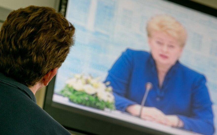 """TV3 eteryje nepasirodė """"Paskutinės instancijos"""" reportažas apie prezidentę"""