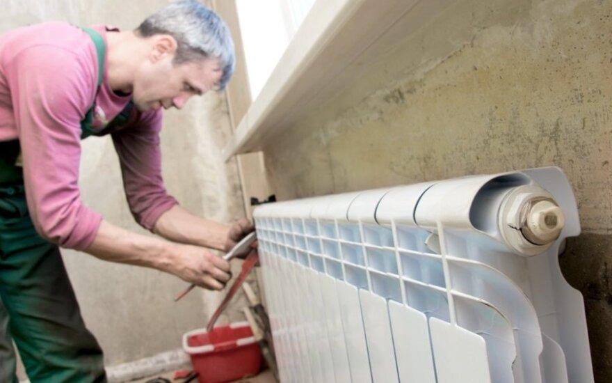 Keičiant radiatorių reikėtų pasitarti su specialistais