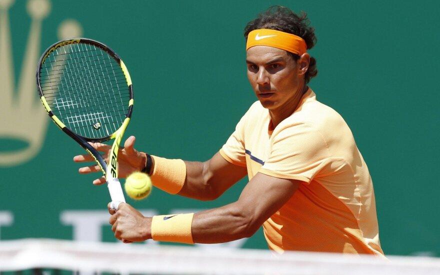"""R. Nadalis ir S. Wawrinka – ATP """"Masters"""" turnyro Monake aštuntfinalyje"""