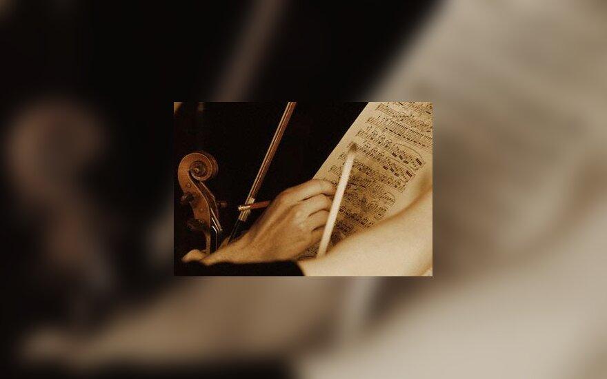 orkestras, koncertas, groti, muzikantai, klasikinė muzika