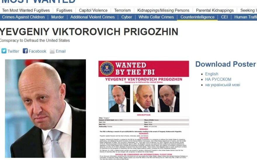 Jevgenijus Prigožinas, FTB nuotr.