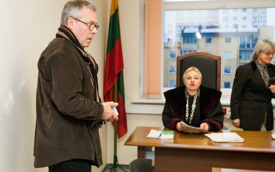 Aktorius Rimantas Bagdzevičius ir teisėja Lilija Tarčevskaja
