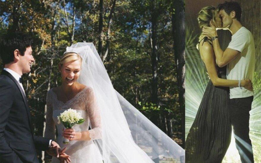 Karlie Kloss vestuvių akimirka