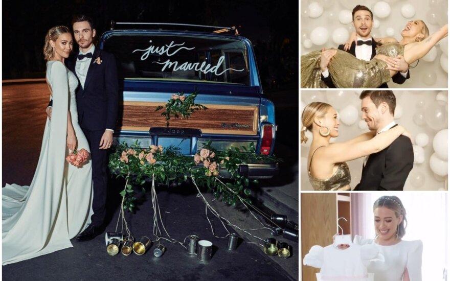 Hilary Duff vestuvių akimirka