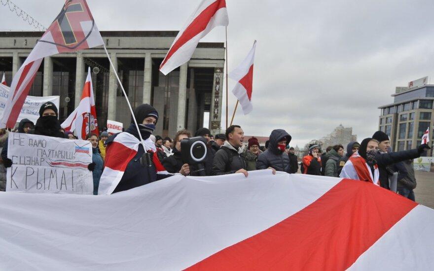 Minske – dar viena integracijos su Rusija priešininkų protesto akcija