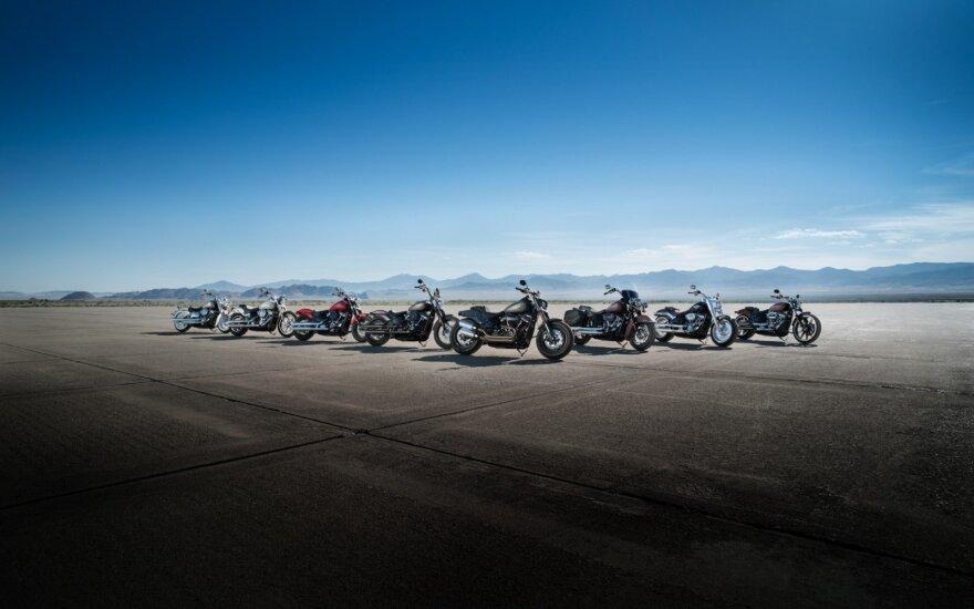 """""""Harley-Davidson Softail"""" motociklų gama"""
